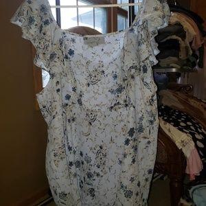 venezia blue sleeveless shirt